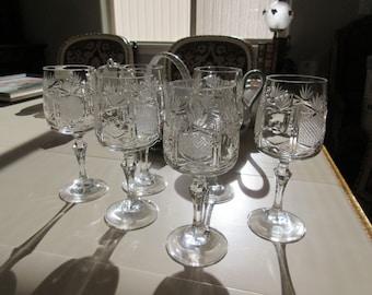VINTAGE PINEAPPLE GLASSWARE