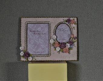 3x5 (approx) and 2 1/4 x 3  Double Photo Frame
