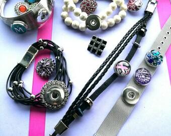 Snap sieraad armband klik click in bling letter kado vrouw verjaardag moederdag keuze kiezen gepersonaliseerd moeder zus