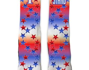 Custom I Stand SS Athletic Socks