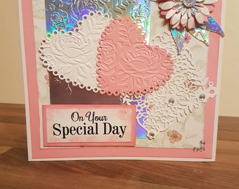 Handmade 'On Your Special Day' Anniversary/Wedding Day Card