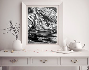 Black and White Print - Abstract Art - Digital Download - Black and White Photography - Unique Art - Modern Art - Home Decor