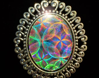 Holographic pendant etsy holographic pendant mozeypictures Images