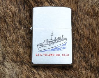 Unfired Zippo from the USS Yellowstone AD-41