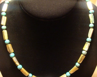 Chinese Turquoise / Abalone Shell Necklace
