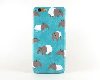 Tapir iPhone X case, iPhone 8 Plus, iPhone 8 case, iPhone 7 Plus case, iPhone 7 case, iPhone 6S case, iPhone 6S Plus case, iPhone SE case