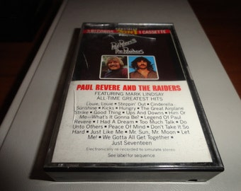 Paul Revere and the raiders  vintage compact cassette tape-cassette tape-vintage tape- vintage gift- music lover gift--