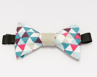 "Pink and blue bow tie graphic ""Wave desire"""
