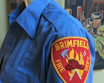 Vintage Long Sleeve Brimfield Firefighter Shirt
