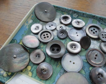 Grey Mother OF Pearl Vintage Buttons