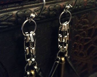 Spiked chain earrings