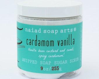 Savon vanille des Chantilly cardamome gommage au sucre - sans cruauté et vegan
