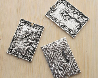 6pcs antiqued silver Cupid arrow pendant charm G530