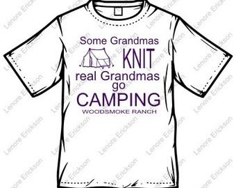 Woodsmoke Ranch Grandma Camping Tshirt