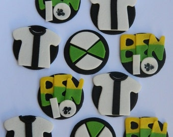 12 edible BEN 10 ALIEN character disc icing cake decorations cupcake topper decoration party wedding anniversary birthday engagement cookie