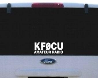 Amateur Radio Call Sign Vinyl Decal