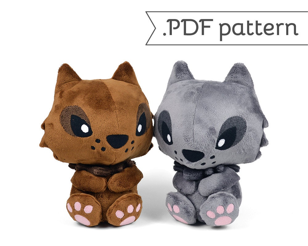 Werewolf Wolf Monster Lycan Lycanthrope Plush Sewing Pattern