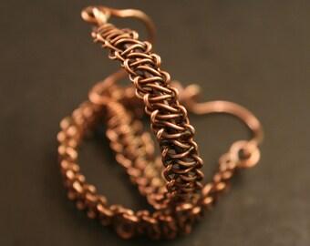 Antique Copper Hoop Earrings, Copper Hoop, Copper Hoop Earrings, BoHo Copper Hoop Earrings, Boho Chic Earrings, Copper Jewelry (Ref #1791)
