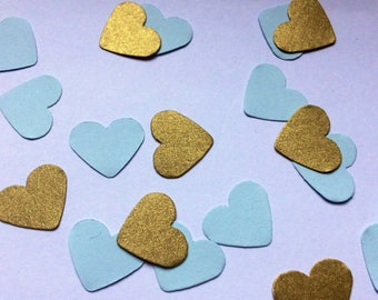 Table Confetti blue gold baby shower decorations christening party birthday wedding table sprinkles