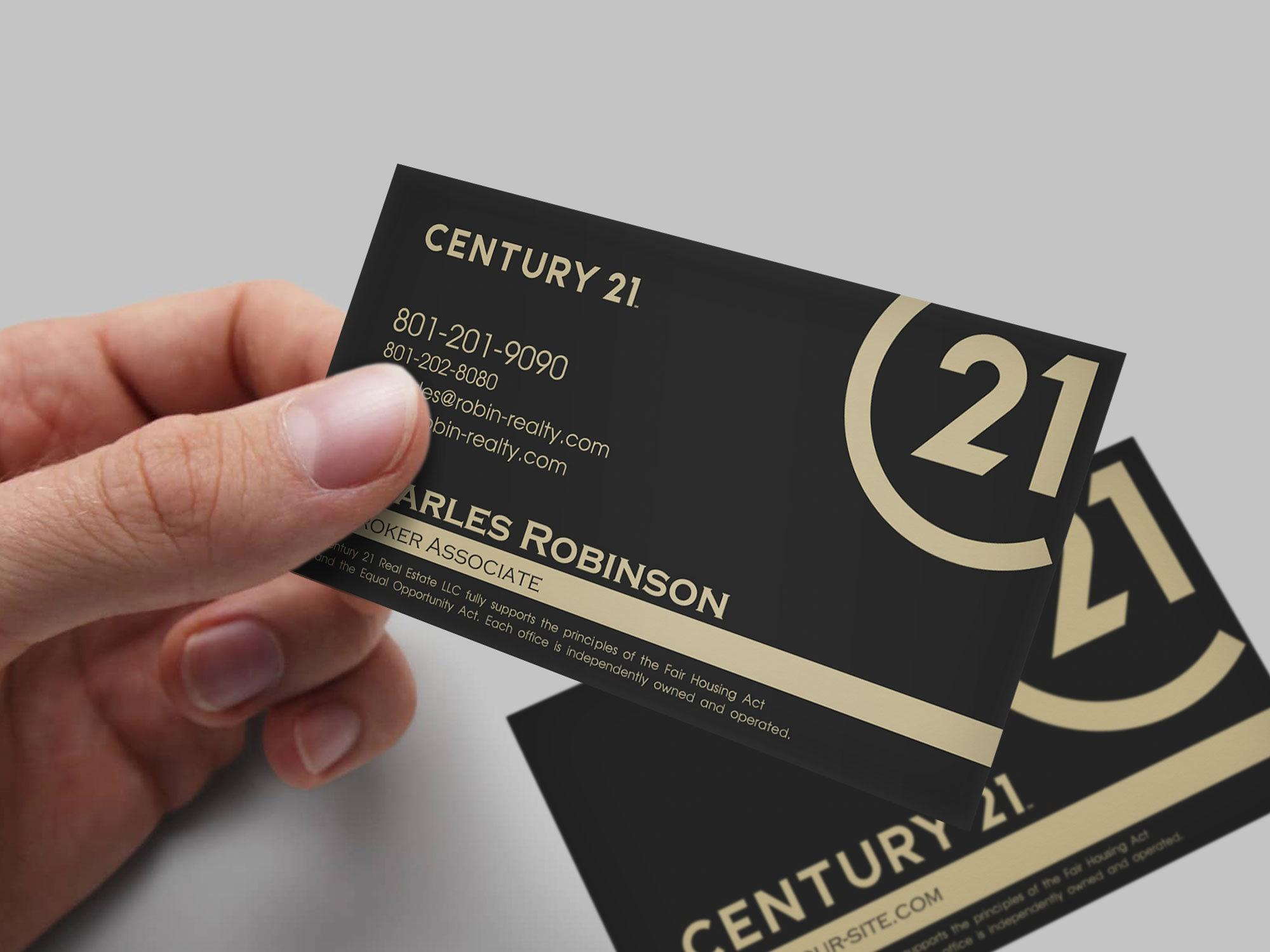 Century 21 New Rebrand Business Card Custom Design