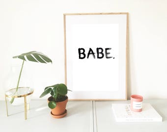 Poster, babe, saying, quote, odds