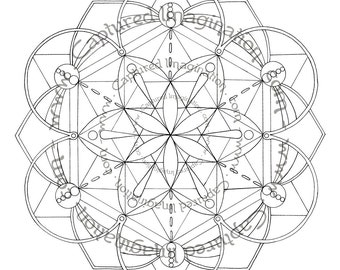 DIY Coloring Page - Egyptian Sunrise Mandala - Instant Download
