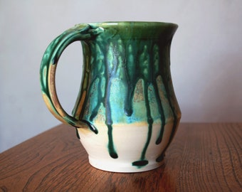 Green Drip Mug