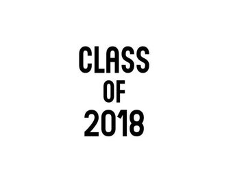 Class of 2018 (or any year!) Matte & Glitter Heat Transfer Iron On Vinyl Decal - Kindergarten Junior High School College Graduation - Rose
