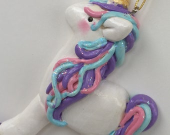 2018 Designs ...Unicorn Christmas Ornament ,Personalized , Christmas , Whimsical , Holiday, unicorn