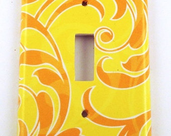 Light Switch Cover Yellow and Orange Wall Decor Switchplate  Switch Plate in Sunny Breeze (131S)
