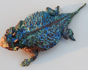 Patinated Horned Lizard
