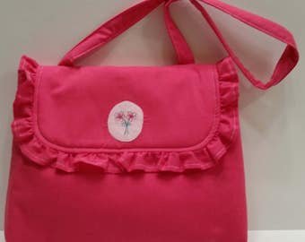 Summer Ruffle Purse - Bright Pink