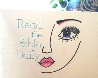 JW Card, Encouragement Card, Greeting Card, Read the Bible Daily,Christian Greeting Card