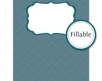 Binder Covers - Fillable - 4 Binder Cover Designs - Household Binder cover - Printable PDF - Instant Download