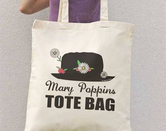 Mary Poppins tote bag-Mary Poppin bag-funny tote bag-cool tote bag-shopping bag-christmas gift-gift idea-gift for her-birthday gift-NPTB114