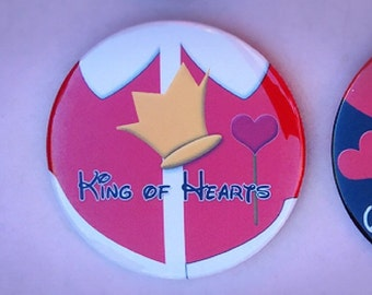 "King Of Hearts  3"" button"