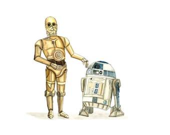 Star Wars Print - Watercolour Painting