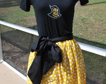 University of Central Florida Knights UCF Knights Gameday Dress with Pockets and Sash  Size Small Ready to Ship!