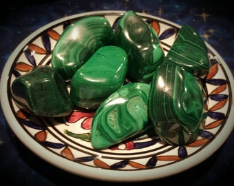 Malachite Large Tumbled Stones