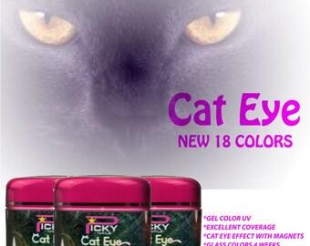 Gel color uv  cat eye magnetic glitter nail art nails farbgel