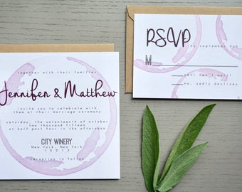 Palomar Winery Wedding Invitation