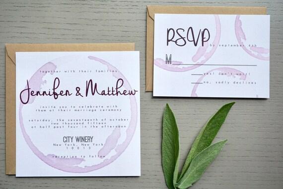 Palomar Winery Wedding Invitation