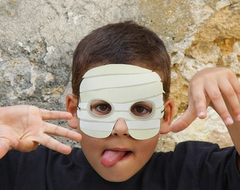 MUMMY Paper Mask - Kids Halloween Costume - Printable Mask