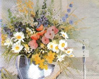 BEAUTIFUL BOUQUET 1 towel paper 33 X 33 X 4 pattern 012