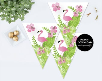 PARTY DECORATIONS, Printable Bunting, Printable Bridal Shower Decorations, Instant Download Baby Shower Decorations Girl, Birthday Party