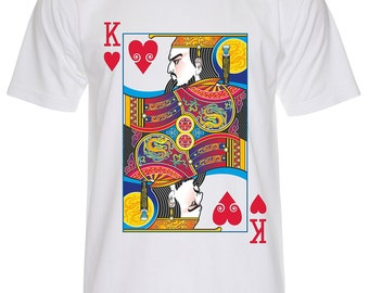 King of Hearts Playing Cards T Shirt-P253