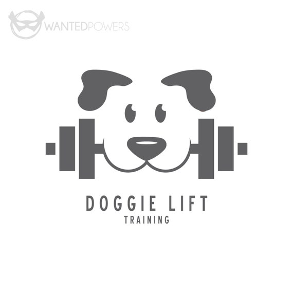Popular Dog Weight Lift Training Custom Pre-Made Logo Design Pet YL83