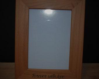 4x6 Laser Engraved Wooden Picture Frame, Custom picture frame, personalized picture frame 4x6