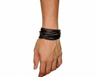 Vegan Leather Bracelet,Vegan Leather Jewelry,Vegan Jewelry,Vegan Bracelet,Vegan Rope Bracelet,Faux Leather,Faux Bracelet,Gift for Him