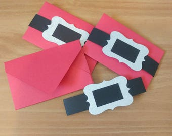 Santa Suit Gift Card Holders - Christmas Wrapping - Holiday Gift Ideas - Set of 5 - Co Worker/Employee Gifts - Secret Santa Gifts